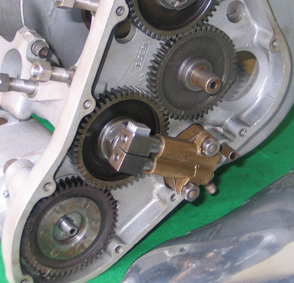 2. Piston pump fitted to a Triumph Tiger 100.