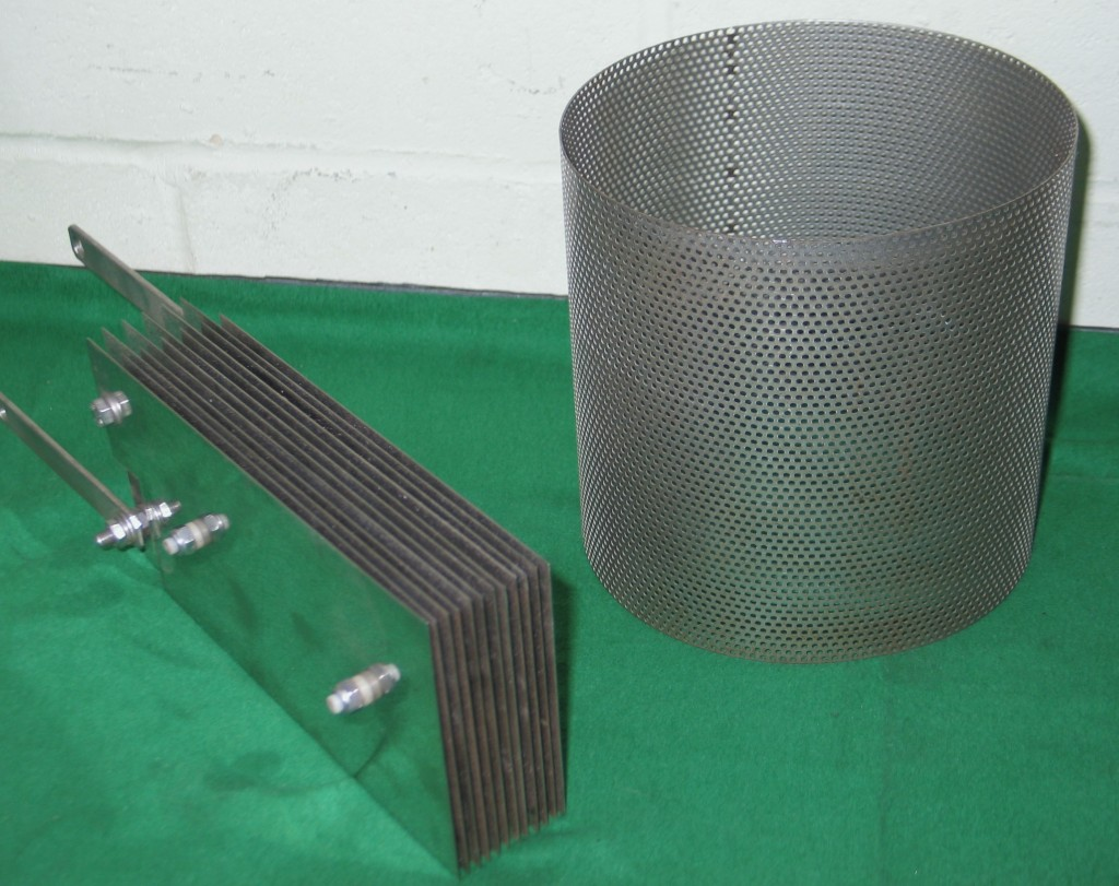 Air filter cover and part of a hydrogen fuel cell.