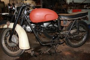 old 1960 Triumph thunderbird