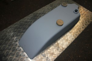 filled and painted 1912 Ariel Petrol Tank