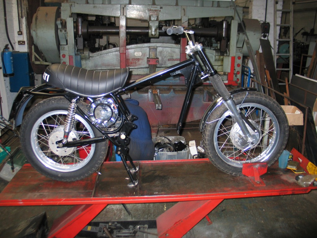 1973 Ducati 350 Sebring without an engine.
