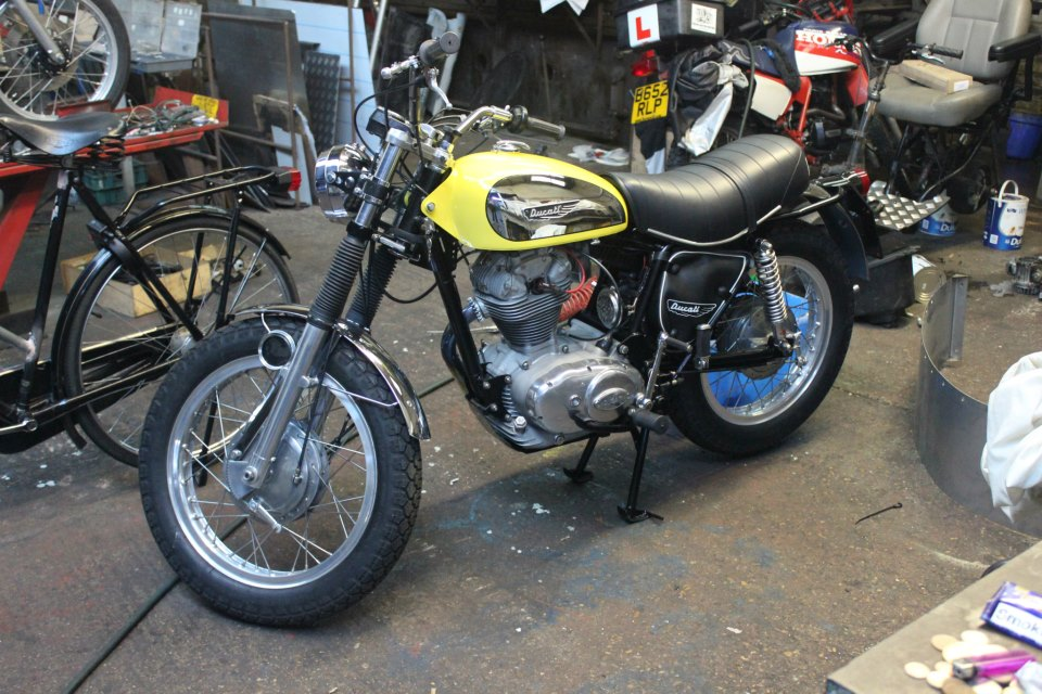 restored 1973 Ducati 350 Sebring.