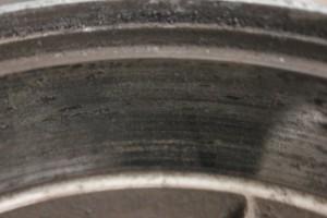 Brake drum surface prior to machining