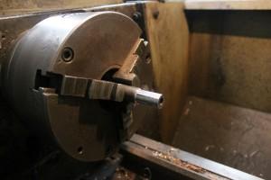 Break drum spindle in lathe