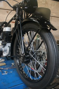 Resored BSA C11 1939 front view .