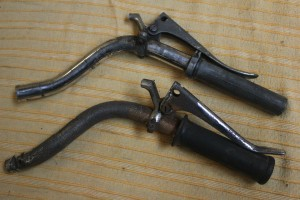 Old BSA C11 1939handlebars.
