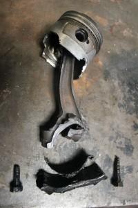 Rickman broken piston and rod