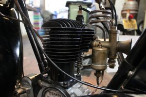 BSA B29 1929 restored engine and carb
