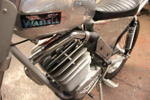 Wassel 125cc cylinder head and exhaust